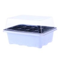 Seedling Tray Sprout Plate 12 Cavity Nursery Pots Tray Lids ...