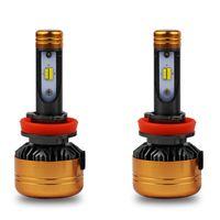1 pair جودة عالية z5 h11 h7 h4 led لمبة 50 واط 5800lm بقيادة مصباح ل عدة السيارة الالوان الثلاثة 3 اللون الصمام العلوي 3000 كيلو 4300 كيلو 6000 كيلو
