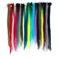 HotNew 100% Handmade Dreadlocs 5 Roots One Lot Dreadlocks Diferentes colores para RopRap Crochet trenzas Extensiones de cabello sintético
