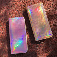 DHL Fashion Design Holographic Long Wallet Shining PU Leathe...