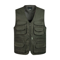 Gilet uomo senza maniche di scarico gilet di moda con molte tasche cappotto maschile giacca militare gilet tattico felpe