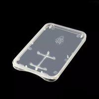 Ультра Тонкий Супер Тонкий Пластиковый TF Карта + SD Адаптер Чехол 2 в 1 Ящик для Хранения Карты Памяти Чехол Идеально Подходит для Королевской Почты