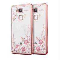 Luxe Diamant Secret Jardin Fleur Placage Clair TPU Cas Pour Huawei P8 P9 P10 P20 Lite Pro Plus P Smart Profitez 7S Honor 7C NOVA 2 Plus