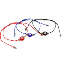 20 unids / lote Lucky String Evil Eye Lucky Red Cord ajustable pulsera joyería DIY