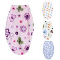 Neugeborenes Baby Swaddle Wrap Baby Swaddling Decken Infant weichen kurzen Plüsch Swaddling Schlafsack