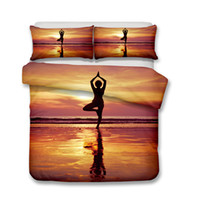 3D Adult Bedding Sets Yoga Tree Standing 3pcs Duvet Covers P...