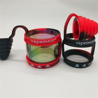 VapesMape Vape 실리콘 링 더스트 캡 방진 방지 스키드 밴드 실리콘 위생적 인 물통 팁 맞는 직경 22-35mm 전구 지방 Pyrex 유리관