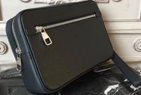 남성 핸드백 여성 클러치 가방 m41663에 대한 HOT 세일 다미에 가죽 카사이 가방 갈색 모노 블랙 격자 무늬 캔버스 세면 가방, 손바닥, 손목을