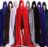 Halloween Cloak Christmas Costume COS Death Long Cape Cloak ...