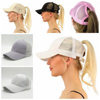 CC Ponytail Hats Messy Buns Trucker CC Pony Caps Plain Baseball Visor Cap Dad Hat 13 Цвета OOA4722