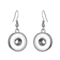 noosa chunks silver plated snap button earrings 12mm 18mm sn...