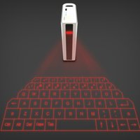 2 In 1 Virtual Keyboard External Key Projection Keypad Charg...
