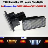 Подключи и играй легко установить автомобильные светодиодные фонари номерного знака для Mercedes W211 W203 5D W219 R171 Benz Белый SMD номерного знака лампы 12V