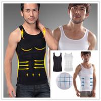 Homens Slim Body Lift Shaper Barriga Gorda BUSTER Underwear Vest Espartilho Compressão