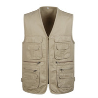 Cotton Varsity Vest With Many Pockets For Men Spring Summer ...