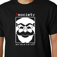 Mr Robot   FSociety - Are You a 1 or a 0? t- shirt TV HACKING...