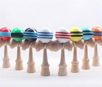 Полосатый Кендама профессиональный 18,5 см красочные деревянные игрушки Кендама малыш упражнения мяч магазин японский Кендама игрушка умелый подарок