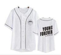 Mens BTS Shirts Fashion Black White Numbers Letters Printed ...