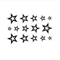 3D звезда водонепроницаемый временные татуировки наклейки тела человека половина рукав рука звезда временные Тотем татуировки наклейки боди-арт татуировка