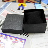 Brand New Black Lychee Watch Box Gift With Pillow No Logo 8....
