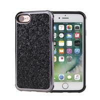 Prime bling 2 en 1 diamant téléphone couverture arrière de paillettes strass pour l'iphone 5 7 6 6s, plus s9 cas s9plus