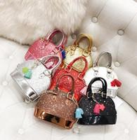 الأطفال مصغرة حقائب الكتف للفتيات التسلق بريق محفظة للأطفال طفل رضيع شل الترتر أكياس مع سلسلة لطيف حقائب LC789