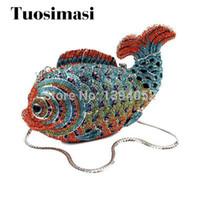 Le più nuove borse colorate colorate a forma di pesce fantasia pochette da sera (8662A - BR)