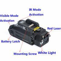 전술 손전등 DBAL-PL LED 손전등 빨간색 레이저와 적외선 빛