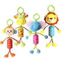 새로운 뜨거운 유아 장난감 모바일 아기 봉제 장난감 침대 바람 종소리 딸랑이 장난감 아기 아기 침대 침대 매달려 벨 장난감 b995