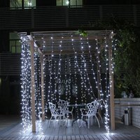 220V 110V RGB Led Curtain Fairy Light 3x3M Christmas Garland...