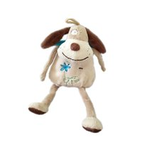 Biwan Stuffed Dog 24cm From Head To Feet Cute Embroidered Ha...
