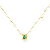 b505209b26c769 ANI 14 K Colar de Pingente de Ouro Amarelo 3.5mm Natural Esmeralda Cor  Gemstone Fine Jewelry Moda Feminina Colar de Noivado Presente