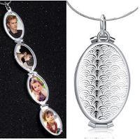 Locket collar 925 joyería plateada de plata colgante, collar de regalo de las mujeres elegante caja de caja de escala de peces envío gratis