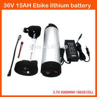 Ücretsiz gümrük ücreti 500 W 36 V 15AH Su Şişesi pil 36 V 15AH Elektrikli Bisiklet Pil 15R B6 ile ICR18650-30B hücre Kullanın