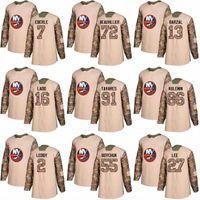 2018 Camo Veterans Day 91 John Tavares 29 Brock Nelson 11 Shane Prince 10 Alan Quine New York Islanders Custom Hockey Jerseys
