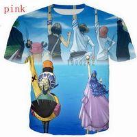 Аниме One Piece 3D Funny Tshirts Новый Мода Мужчины / Женщины 3D Печать Характер Футболки Футболка Женская Сексуальная Футболка Тройники Одежда ya66
