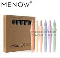 Menow ماركة 6 ألوان / مجموعة CC مخفي بقعة إزالة سطع المخفي كريم إصلاح قلم التجميل الطبيعي