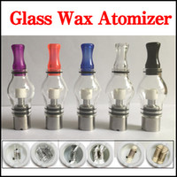 電球スタイルのガラスグローブワックスアトマイザーシングルデュアルセラミッククォーツコットンコイルドライハーブの気化器ペンドーム噴霧器