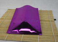 9x13cm 200 шт. x Термосвариваемый водонепроницаемый мешок из алюминиевой фольги-Черное алюминиевое покрытие для хранения продуктов питания упаковка обычная сумка, фиолетовый красный майлар пакет мешок