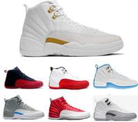 best cheap d867a b037f Nike Air Jordan 12 AJ12 Retro Di alta qualità 12 12s OVO bianco palestra  rosso scuro grigio scarpe da basket uomo donna taxi blu in pelle  scamosciata gioco ...
