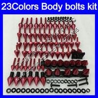 pernos carenado completo kit de tornillos para tornillos HONDA CBR600F4i 01 02 03 01-03 CBR600 F4i CBR 600 F4i 2001 2002 2003 tuercas del cuerpo de tuerca 25colors juego de pernos