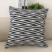 Fyjafon Decorative Pillow Case Pillowcase Chenille Striped C...