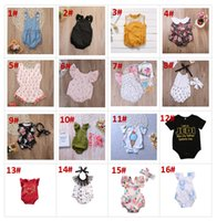 32 styles summer infant baby flower rompers animal onesies k...