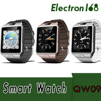 QW09 Android 3g Smart Watch Wifi Bluetooth 4.0 MTK6572 Dual Core 512MB RAM 4GB ROM Podómetro 3G Smartwatch Teléfono de alta calidad VS DZ09