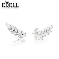 67d4c59b3 New Arrival. EDELL 100% 925 Sterling Silver 297730 CURVED GRAINS EARRING ...