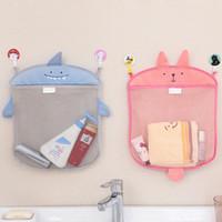 Настенный Кухня Ванная комната хранения сумки вязаная сетка мешок детские игрушки ванны составляют организатор контейнер BBA283