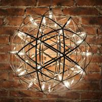 Modernes Rainmond-Feuerwerk-Anhänger-Lichter Bar-Licht-LED-Edelstahl-Kugel-Pendelleuchte für Bar / Restaurant Lamparas Glanz