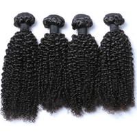 Toptan 4 Demetleri Brezilyalı Kıvırcık Virgin İnsan Saç dokuma Sapıkça Kıvırcık Saç Uzatma indirim fiyat sütlü yolu örgü