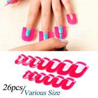 Nail Art 26pcs / paquete polaco protector creativo Herramientas de manicura de uñas resistente a salpicaduras dedos cubierta del clavo del polaco del gel protector