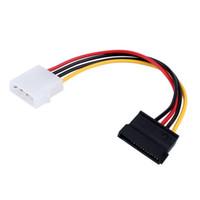 Freeshipping 10шт 4 Pin IDE Мужской до 15 Pin Serial ATA SATA жесткий диск адаптер Кабель питания CD-ROM диски питающий кабель